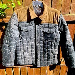Tasso Elba Faux Suede Trim Quilted Jacket XXL